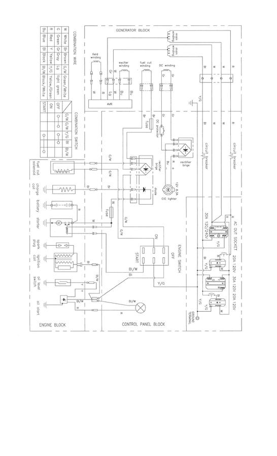 Generador Predator Diagrama Electrico on Honda Gx270 Wiring Diagram