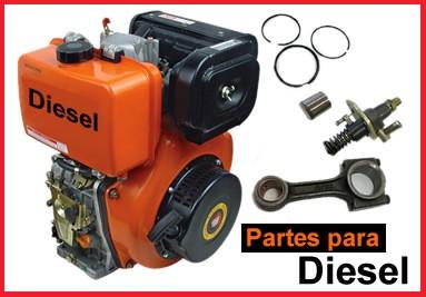 Partes para motores diesel Yanmar L48 L70 L100 y modelos chinos 170F 178F 186F